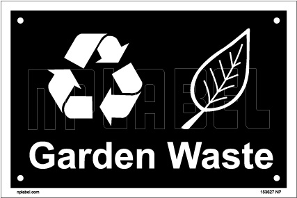 153627 Garden Waste Dustbin Label