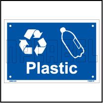 153628 Plastic Waste Dustbin Label