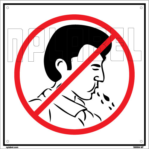 160004 Do Not Spit Sign Sticker