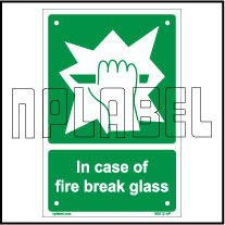 160012 Break the glass Name Plates && Signs