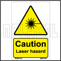 160016 CUATION Laser Hazard Stickers