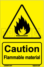 160018 Caution Flammable Signs Stickers