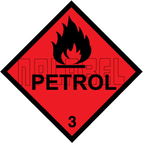 160030 PETROL Signs Stickers