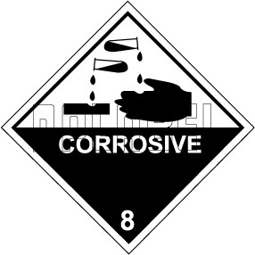160041 Corrosive Signs Sticker