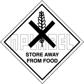 160043 Store Away From Food Signs Stickers
