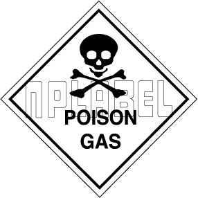 160044 POISON GAS Signs Stickers