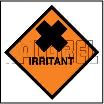 160048 IRRITANT Signs Stickers