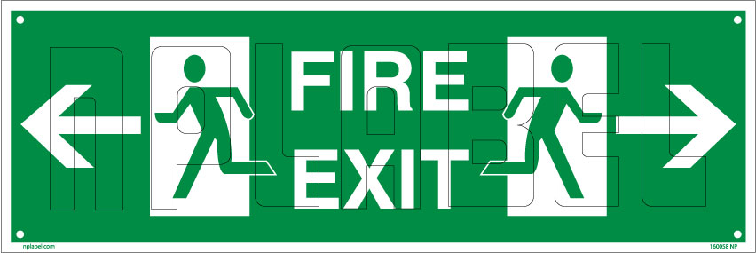 160058 Fire Exit Sign Name Plates