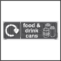160066 Food Waste Recycle Dustbin Label