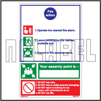 160067 Fire Action Name Plates & Signs