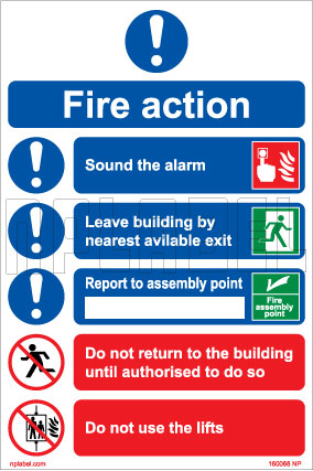 160068 Fire Action Name Plates & Signs