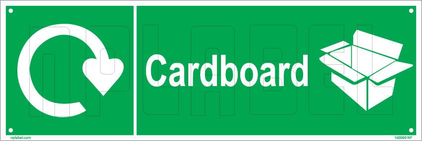 160069 Cardboard Waste Recycle Dustbin Label