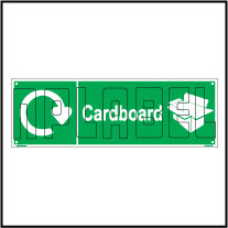 160069 Cardboard Waste Recycle Dustbin Label