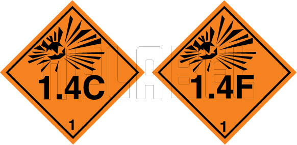160076 Explosive Sign Code Sticker 1.4