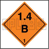 160079 Explosive Sign Code Sticker 1.4B