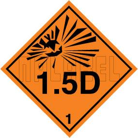 160080 Explosive Sign Code Sticker 1.5D