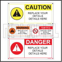 160089 Customize Danger Caution Labels