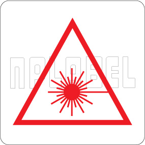 160094 Laser Sign Warning Labels