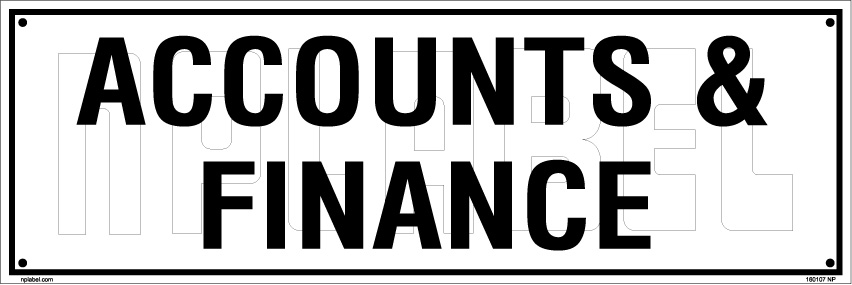 160107 Accounts & Finance Name Plates