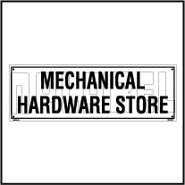 160108 Mechanical Hardware Store Name Plates