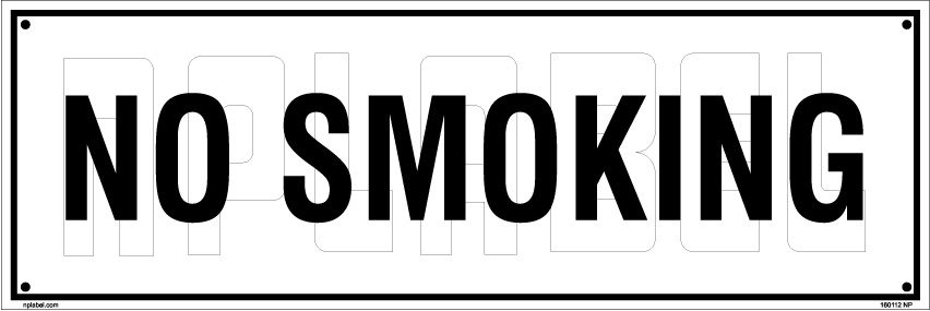 160112 No Smoking Name Plates