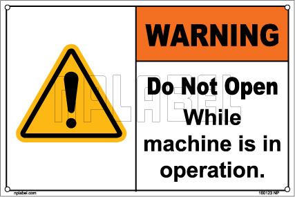 160123 Do Not Open Machine Labels
