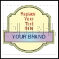 160138 Special Shape Dome Labels