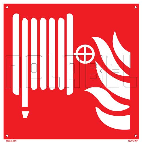 160142 Fire Safety Sign Name Plate