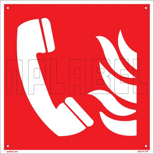 160147 Fire Safety - Emergency Phone Signs Name Plate