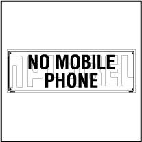 160175 No Mobile Phone Name Plate