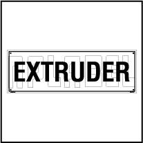 160187 Extruder Sticker