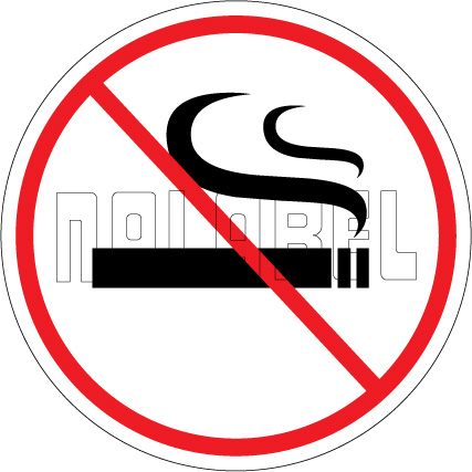 160199 No Smoking Sign Sticker