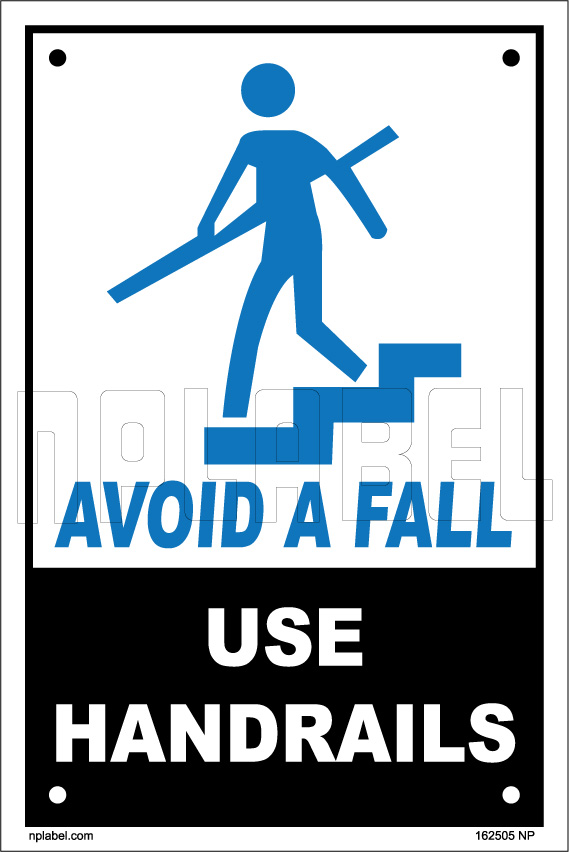 Use Handrail Symbol Safety Sign