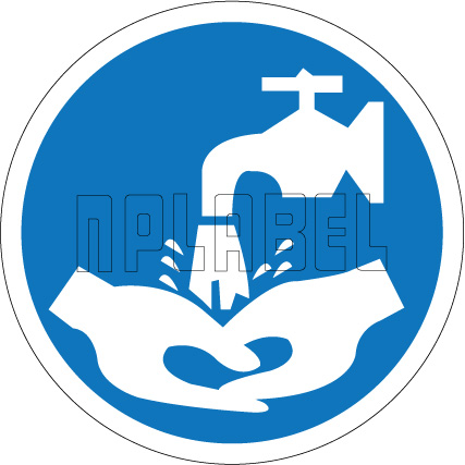 162509 Hand Washing Sign Sticker