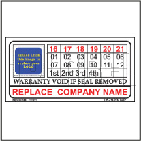 162523 Customize Warranty Void Seal Label