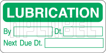 162534 Lubrication reminder & service labels