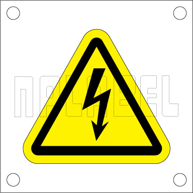 162552 Electrical Mains Sign Label