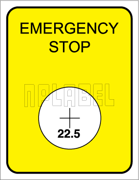 162556 Emergency Stop Labels