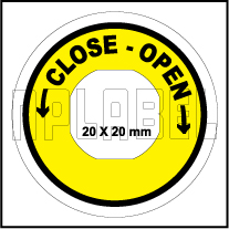 162558CO - Close-Open Control Arrow Label