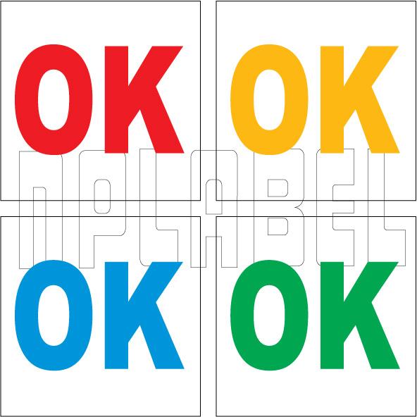 162576 OK Sticker