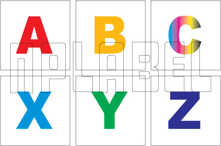 162579  Alphabet A to Z Sticker SET