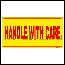 220371 Handle With Care Shipping Sticker