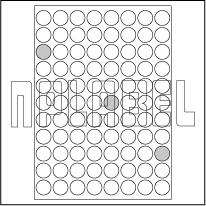 GU23088R Multipurpose Round Labels A4 Sheets