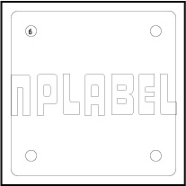 290578 - Blank Aluminum Labels for Engraving
