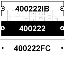 400222 - Control Panel Labels Size 75 x 20mm