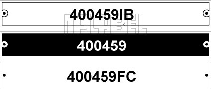 400459 - Control Panel Labels Size 149 x 19mm