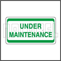 420002 Under Maintenance Stickers
