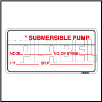420020 Instruction for submersible pump Labels