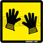 420021 Wear Gloves Labels & Stickers