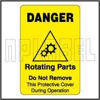 420023 Rotating Parts Warning Sticker & Labels